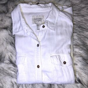 Forever 21 , White polo sleeve